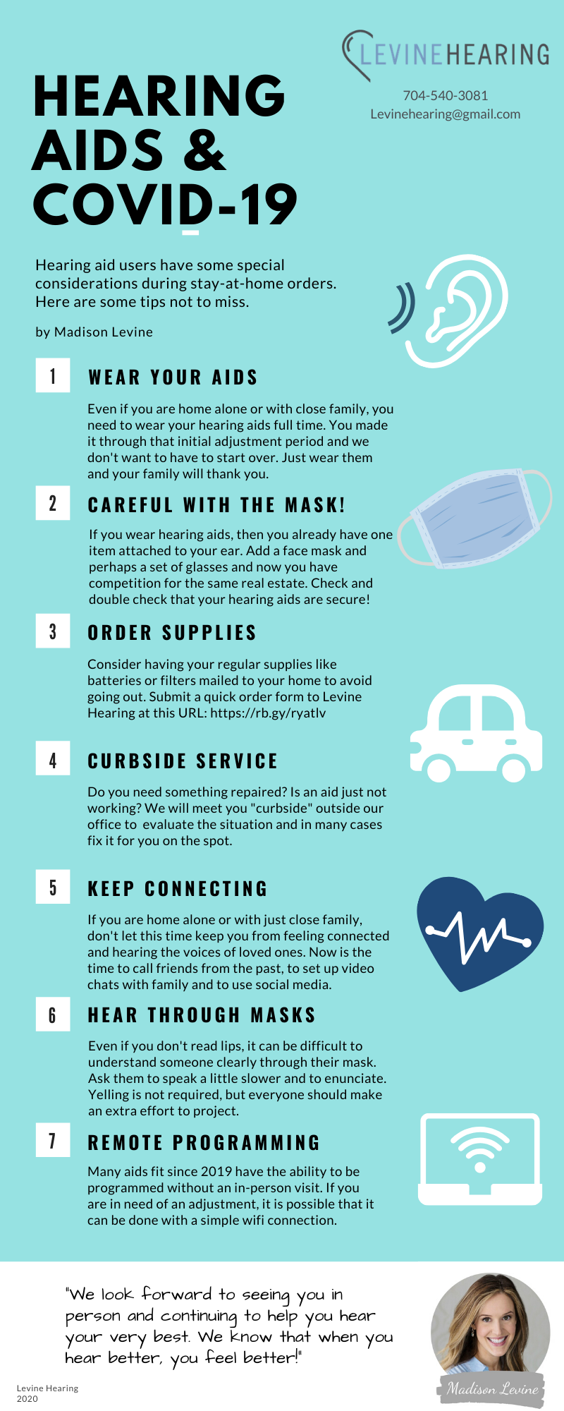 Tips for hearing aids and covid-19