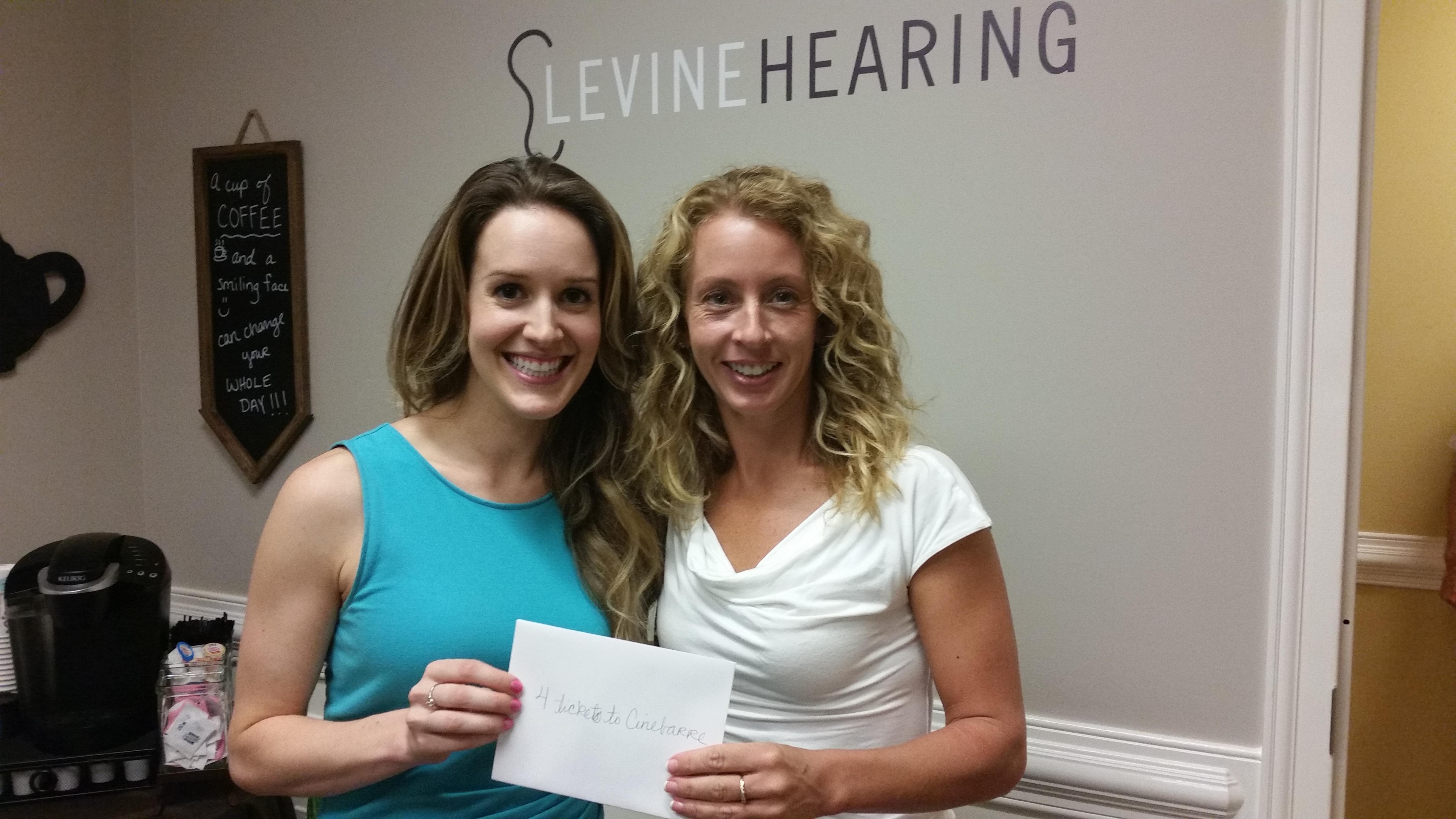 Levine Hearing doorprize